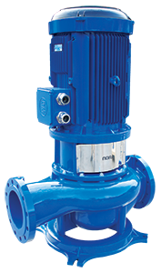 In-Line Centrifugal Pumps, Mounted on Straight Pipe